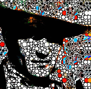 John Wayne HUGE PRINT by Robert R Splashy Art Abstract Paintings