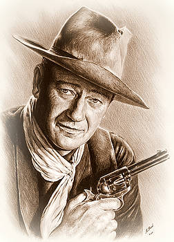 John Wayne sepia frosted by Andrew Read