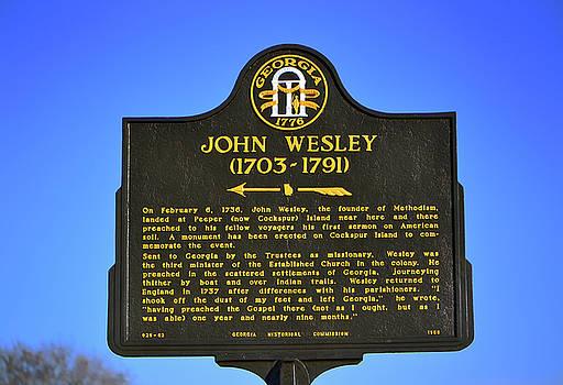 John Wesley Historical Marker - Fort Pulaski 001 by George Bostian