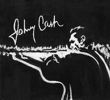 Johnny Cash Autograph by Pete Maier