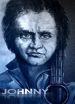 Johnny Cash Print by Lloyd DeBerry