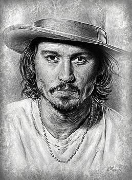 Johnny Depp grey scratch by Andrew Read