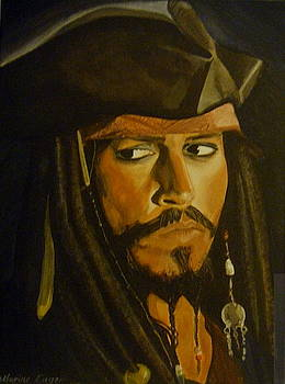 Johnny Depp Pirates of the Caribbeen by Catherine Eager