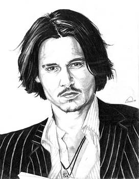 Johnny Depp Portrait by Alban Dizdari