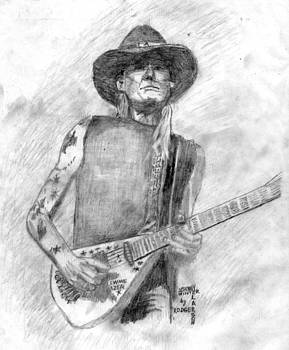 Johnny Winter Blues by Rodger Larson