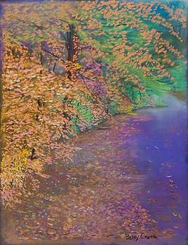 John's Pond in the Fall by Betsy Carlson Cross