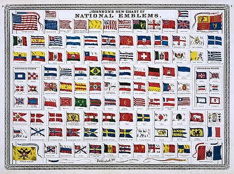 Johnsons new chart of national emblems, 1868 by Vintage Printery
