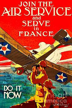 Peter Ogden - Join the Army Air Service World War I Poster 1917