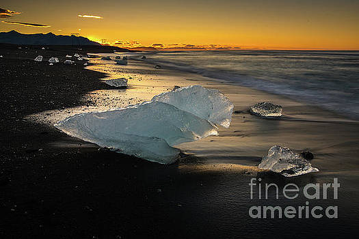 Jokulsarlon Beach Ice Sculptures by Mike Reid