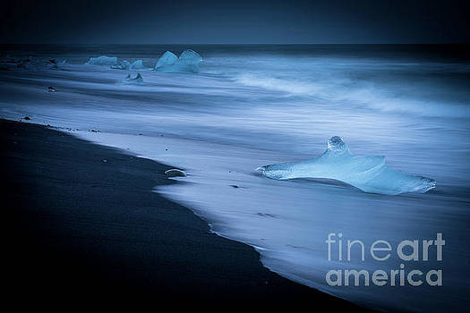 Jokulsarlon Beach Ice Shark by Mike Reid