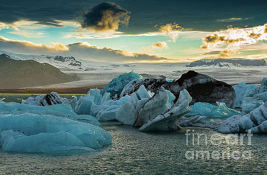 Jokulsarlon Ice Lagoon Landscape of Ice  by Mike Reid