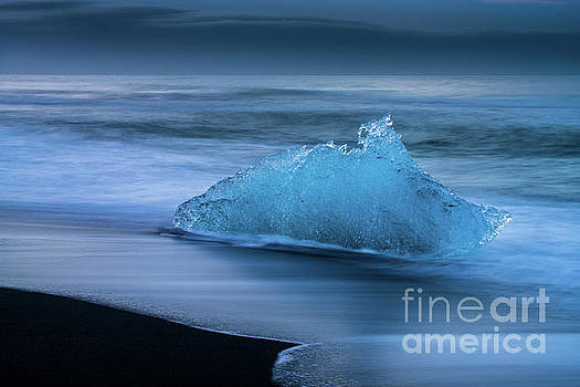Jokulsarlon Iceland Blues Two by Mike Reid