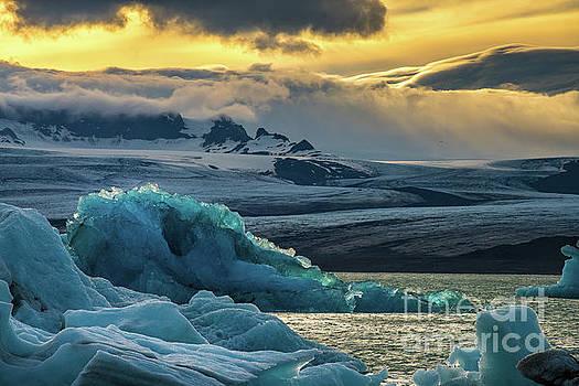 Jokulsarlon Iceland Glacial Ice Lagoon Splendor by Mike Reid