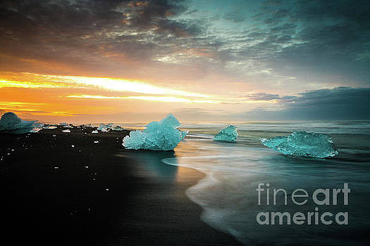 Jokulsarlon Iceland Morning Sunrise Peace by Mike Reid