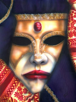 Jolly Mask III by Wayne Pruse