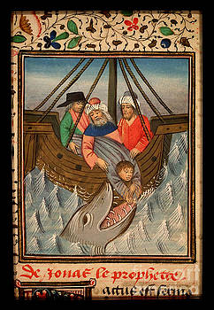 Jonah is thrown into the sea and swallowed by the great fish  Restored by Pablo Avanzini
