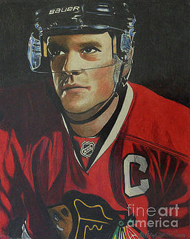 Jonathan Toews Portrait by Melissa Goodrich