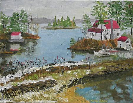 Jones Creek Outlet Ontario by Robert P Hedden