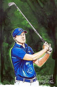 Jordan Spieth 2015 Masters Champion by Dave Olsen
