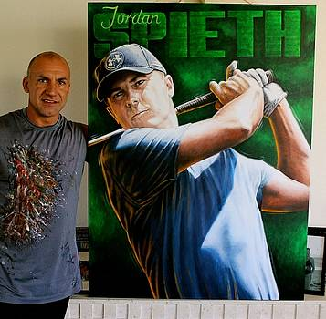 Jordan Spieth Prints Available by Sports Art World Wide John Prince