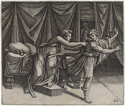 Marcantonio Raimondi - Joseph and Potiphar