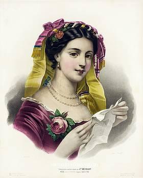 Josephine Ducollet Le sonnet, after Lejeune, 1856 by Vintage Printery