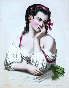 Josephine Ducollet, Reverie after Fantin Latour, ca. 1856 by Vintage Printery