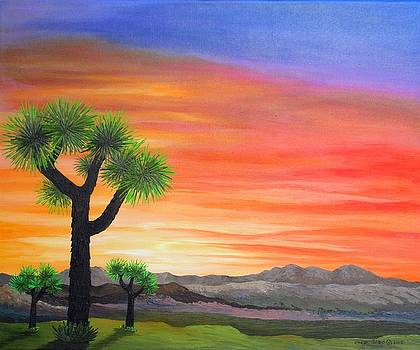 Joshua Tree Sunset by Carol Sabo
