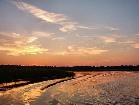 Jourdan River Sunset by Kathy K McClellan