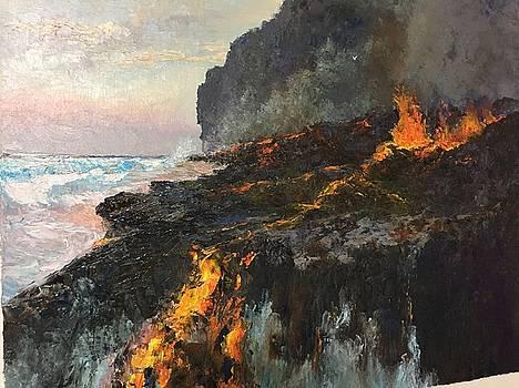 Kilauea Eruption, Journey To The Sea by Ed Furuike