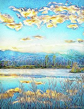 Joyous Blue Reflections by Joel Bruce Wallach