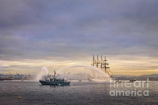 Juan Sebastian Elcano arriving to The Port Of Ferrol by Pablo Avanzini