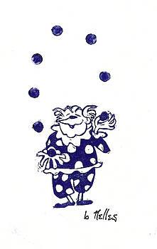 Juggling Clown by Barry Nelles Art