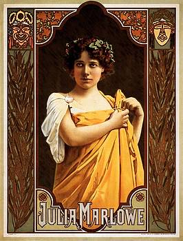 Julia Marlowe, Broadway theatrical poster, 1899 by Vintage Printery
