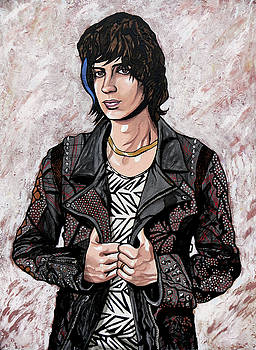 Julian Casablancas White by Sarah Crumpler