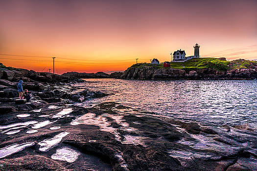 July Sunrise at the Nubble Lighthouse by Devin LaBrie