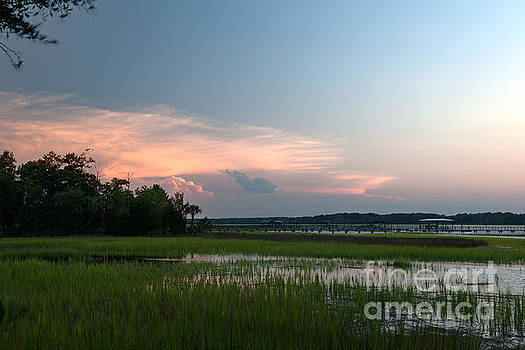 Dale Powell - July Sunset over the Wando River 2015