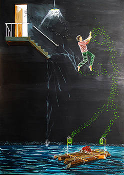 Jump into the river by Lazaro Hurtado