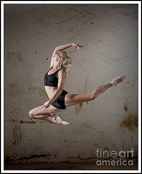 Jumping ballerina by Michael Edwards