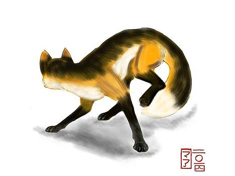 Jumping Fox by  AmaSepia Gittens-Jones' Fox And Fantasy Designs
