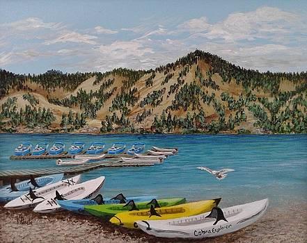 June Lake Marina  by Katherine Young-Beck