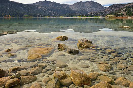 June Lake Rocky Water by Dean Hueber