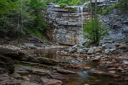 June Morning at Awosting Falls by Jeff Severson