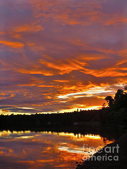 June sunset by Brenda Ketch