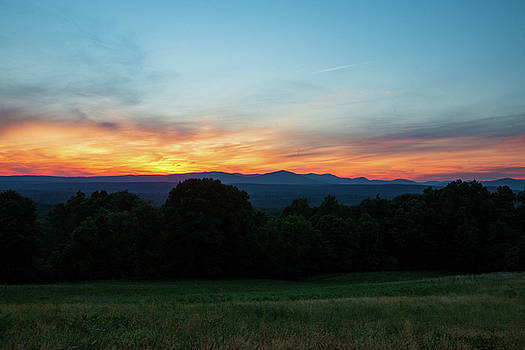 June Sunset Over the Catskills by Jeff Severson