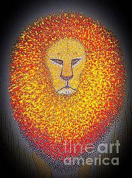 Jungle King  by Assumpta Tafari Tafrow Neo-Impressionist Works on Paper
