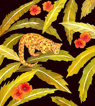 Jungle Leopard Textile Design by Leslie Marcus