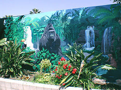 Jungle Pool Mural by Mural Environments