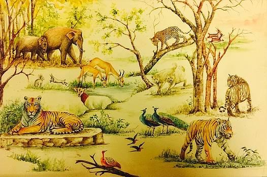 Jungle scene by Ashok sharma
