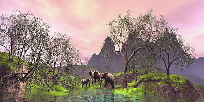 Jungle Scene by John Junek